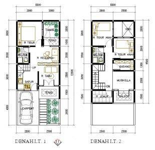 contoh denah rumah renovasi home   desain rumah