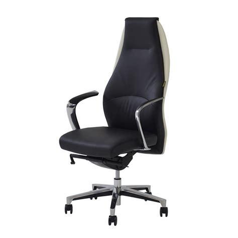 Desk Chair White Leather by Prector Black White Leather Desk Chair El Dorado Furniture