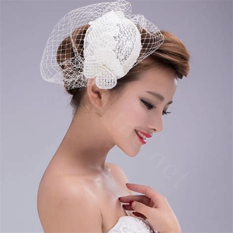 Wedding Hair Accessories Lace Dress by Buy Wholesale Pearl Lace Gauze Bridal Fascinator