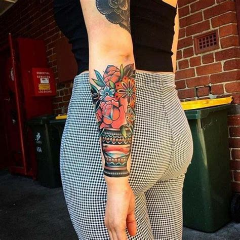 traditional flowerpot tattoo best tattoo ideas gallery