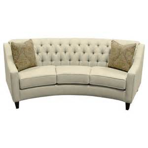 england finneran round sofa with tufted back jordan s home furnishings sofas new minas and
