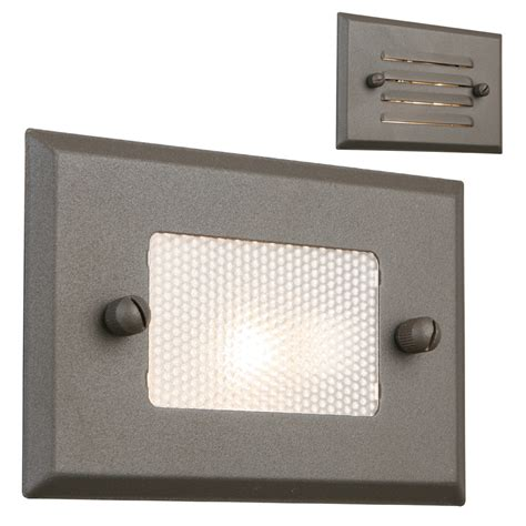 shop portfolio 7 watt bronze low voltage halogen step deck