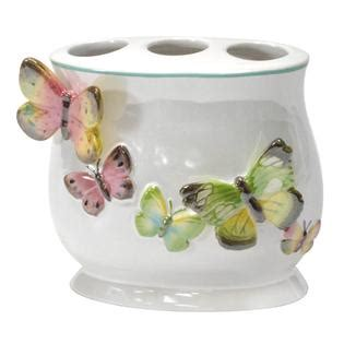 butterfly bathroom accessories essential home tahka butterfly toothbrush holder home