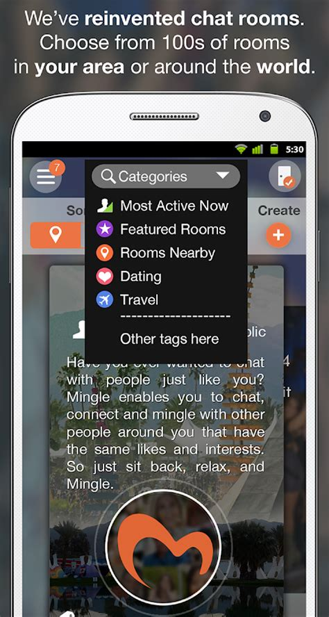 social chat rooms mingle free social chat rooms android apps on play