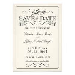 vintage white save the date 4 5 quot x 6 25 quot invitation card zazzle