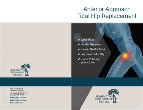 washington orthopedic center hip brochure