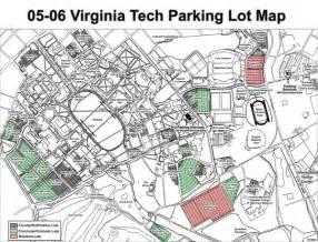 viginia tech parking map blacksburg va mappery