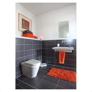 grey orange bathroom on the east coast of scotland overlooking a gorgeous