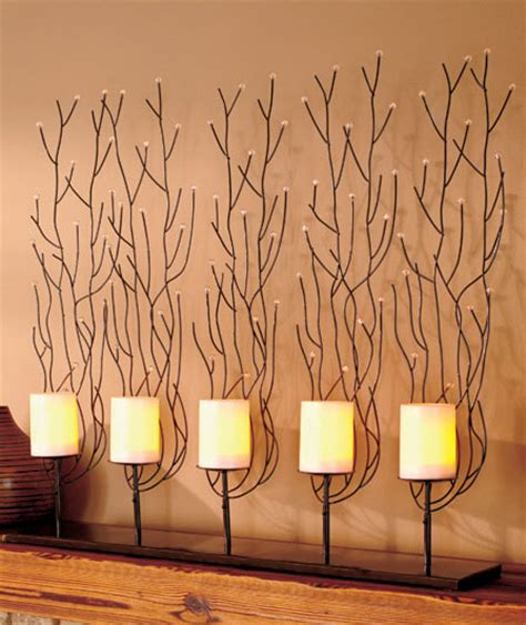 fireplace decorative screen w led flameless candles