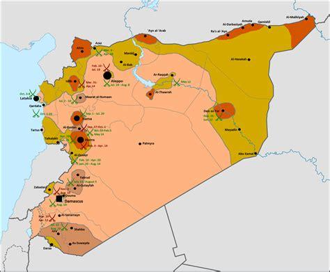 syrian civil war template syrian civil wars map