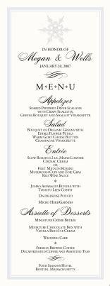 winter wedding menu ideas uk snowflake wedding programs winter wedding directories order of service church directories