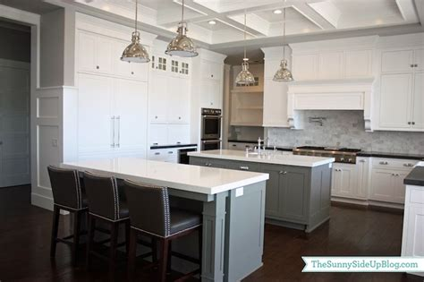 gray kitchen island double kitchen islands transitional kitchen benjamin