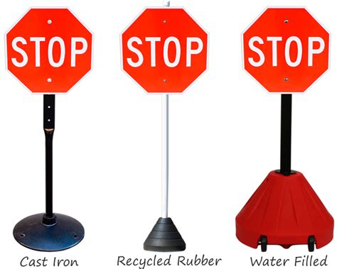 Cast Iron Pedestal Sign Bases Rubber Metal And Portable Sign Bases