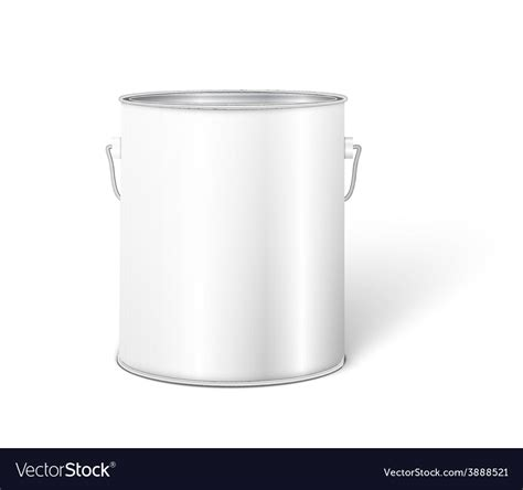 metal bathtub paint white tall tub paint bucket container with metal vector image