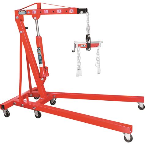torin big red  ton folding shop crane   load leveler model  engine hoists