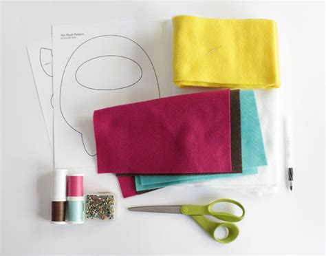 yeti plush pattern by amanda tepie how to make a kawaii yeti monster plush softie tuts