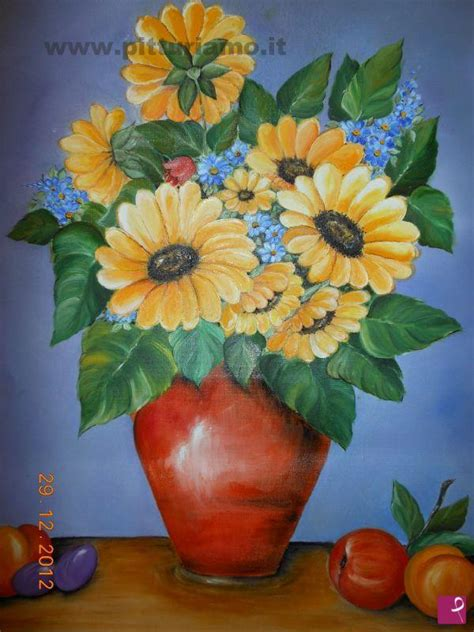 vasi di fiori dipinti vendita quadro vaso di fiori perrone pitturiamo 174