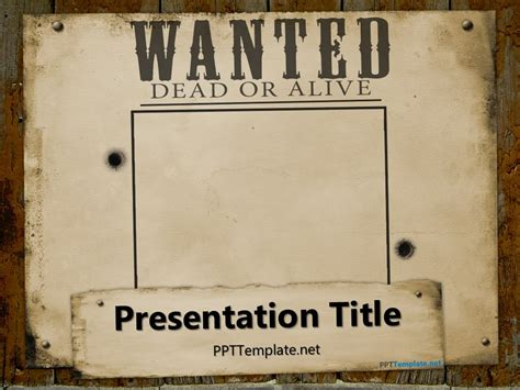 wanted dead  alive powerpoint template