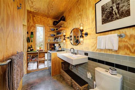 small cabin decorating ideas rustic industrial bathroom decoist
