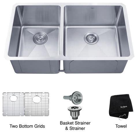33 Inch Undermount Kitchen Sink Kraus Khu104 33 33 Inch Undermount 60 40 Bowl 16 Kitchen Sink Modern Kitchen