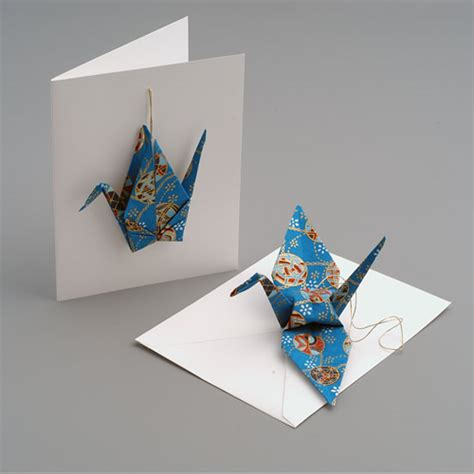 Origami Crane Card - origami animal ornaments paper animal