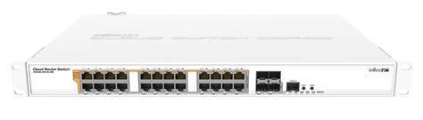 Switch Mikrotik 24 Port mikrotik cloud router switch crs328 24p 4s rm poe out switch 24 poe out gigbit ethernet ports