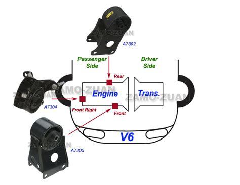 2006 nissan maxima motor mounts engine motor mount set 3pcs for 2002 2003 nissan maxima 3