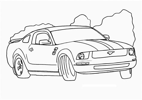 Car Coloring Pages To Print free printable race car coloring pages for
