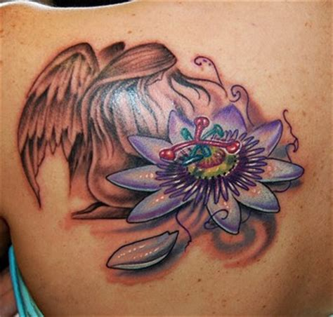 sexy angel tattoo design flower arts