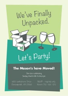 free printable invitation cards for housewarming unpacked housewarming party invitation housewarming