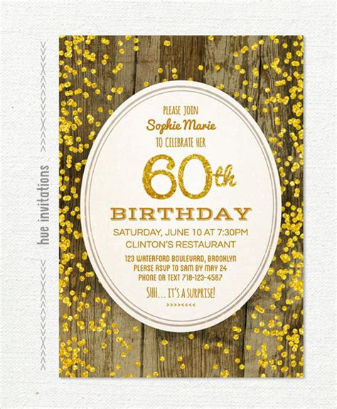 23 60th Birthday Invitation Templates Psd Ai Free Premium Templates 60th Birthday Invitation Templates Free
