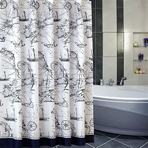Nautical Themed Curtains Decorating Nautical And Themed Shower Curtains Beachfront Decor