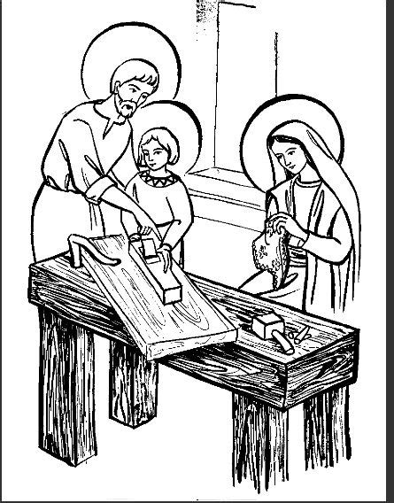 coloring page of the holy family holy family coloring page la sainte famille avec marie
