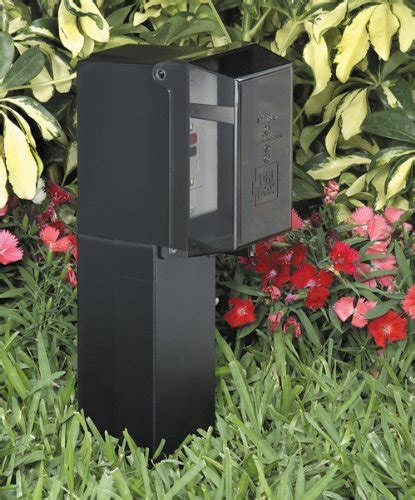 l post electrical outlet gpd19b 1 gard n post low profile outdoor landscape