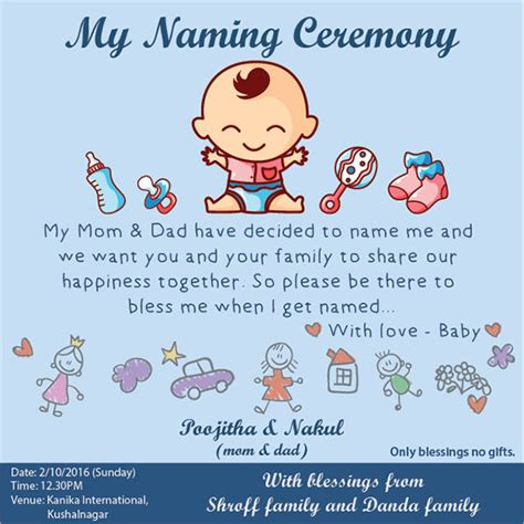 naming ceremony invitation matter in 7 naming ceremony invitations downloadcloud