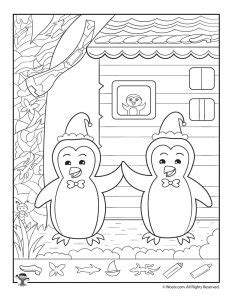 winter coloring pages middle school christmas hidden picture printables for kids woo jr