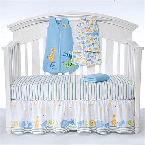 Halo Bedding Set Halo 174 Sleepsack 174 Serengeti 5 Bumper Free Crib Set In Blue Buybuy Baby