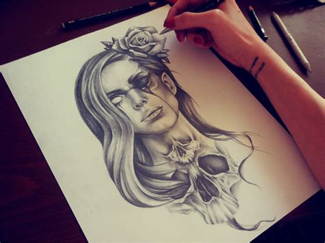 tattoo girl sketch macabre lana by eirikiss on deviantart draiwing