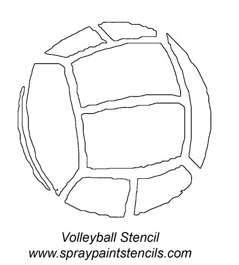 printable volleyball templates stencils listing v s
