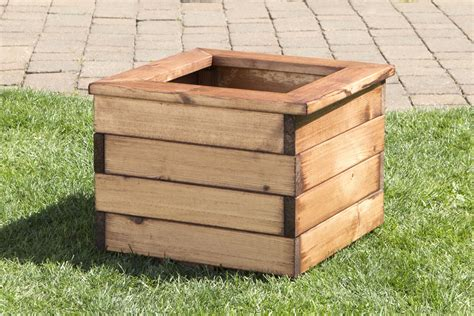 Square Wooden Planters by Heavy Duty Square Wooden Garden Planters 2 Sizes Uk Made