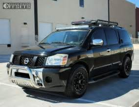 Nissan Armada Accessories Wheel Offset 2005 Nissan Armada Slightly Aggressive Stock