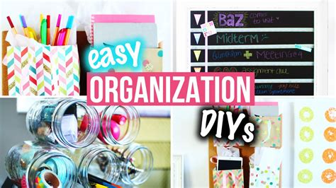 diy decorations laurdiy organization diys easy room decor for getting organized