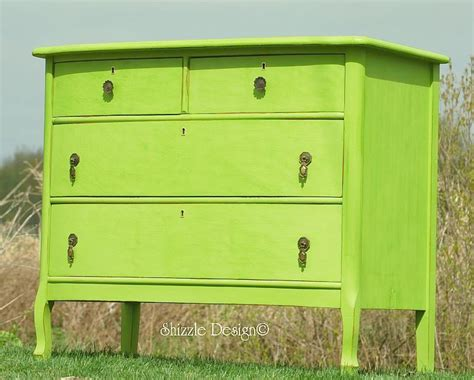 hill green turns an antique dresser into one sassy