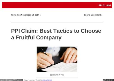 best ppi companies ppi claim best tactics to choose a fruitful company
