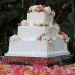Flowered Wedding Cakes by Beautiful Squared 3 Tier Wedding Cakes