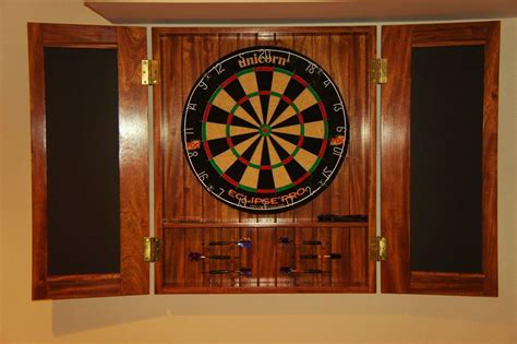 crafted dart board cabinet by bucks county