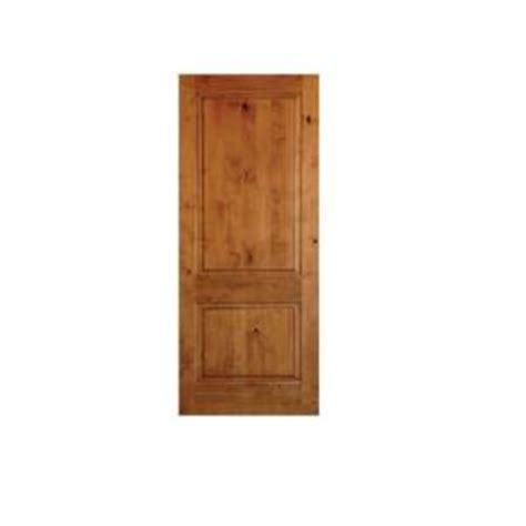 krosswood doors 24 in x 96 in rustic knotty alder 2 panel square top solid wood stainable
