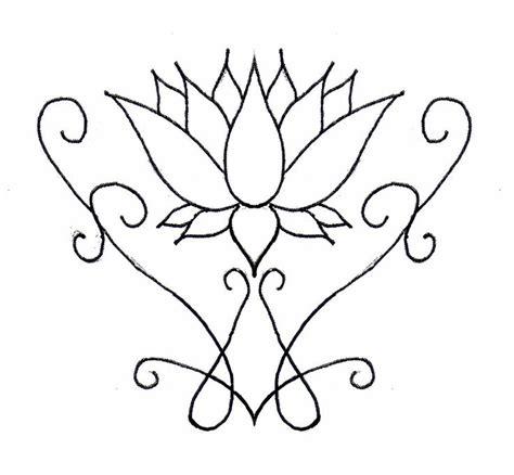 om lotus henna clipart