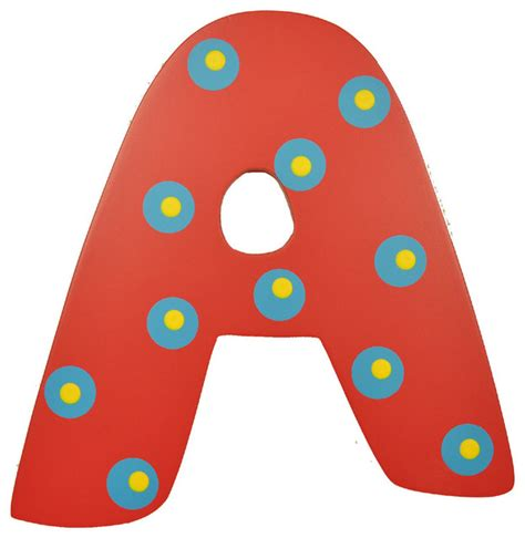 Home Decor Houzz by Red Polka Dot Wall Letter A Modern Wall Letters By