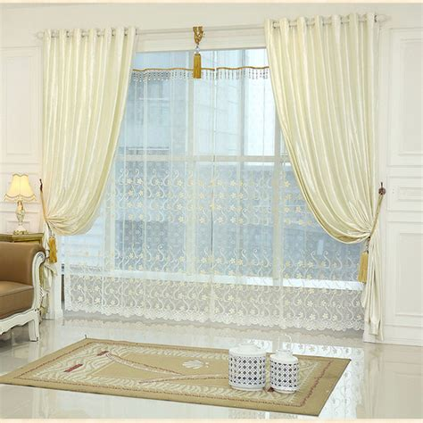 living room curtain sets white window curtain living room bedroom luxury curtains